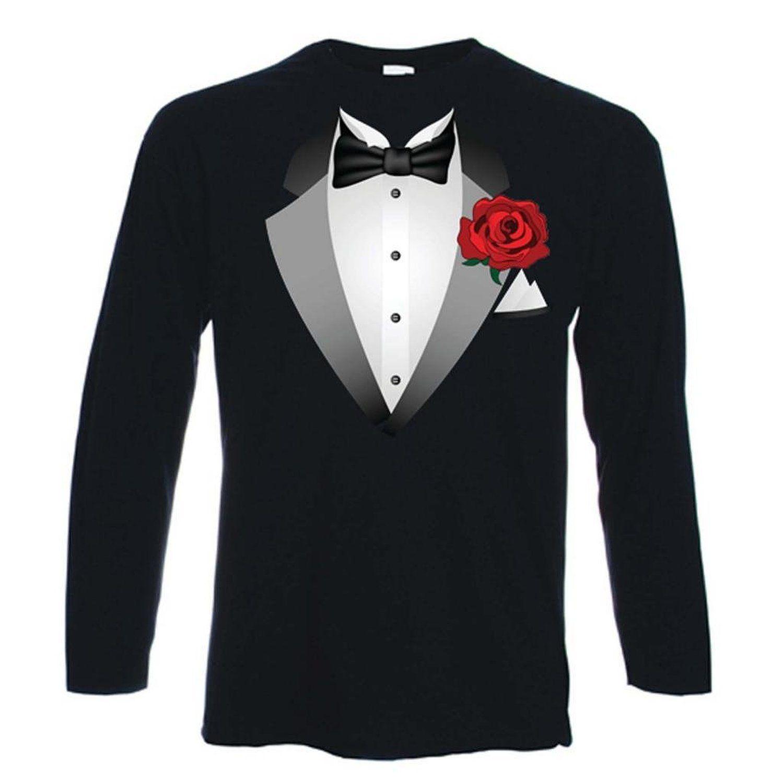 Tuxedo Fancy Dress T-Shirt Costume Ladies Girls Boys ...